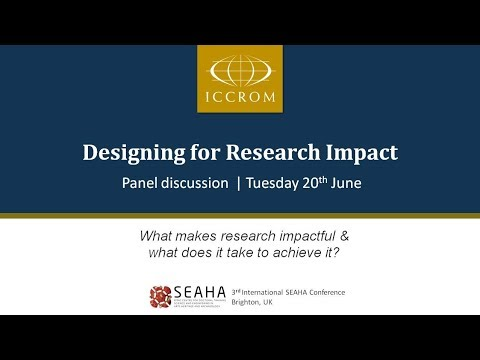 Panel Discussion on Designing for Research Impact in Heritage Science