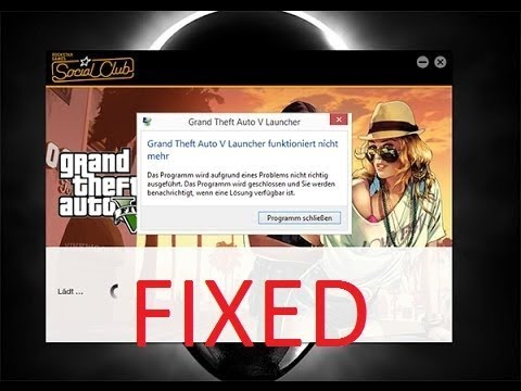 gta v launcher stopped working after update