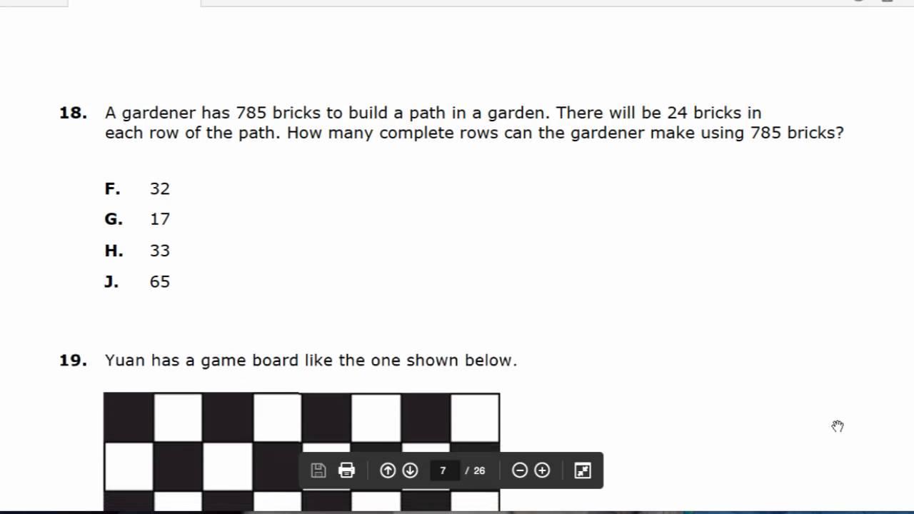 5th Grade Math Benchmark