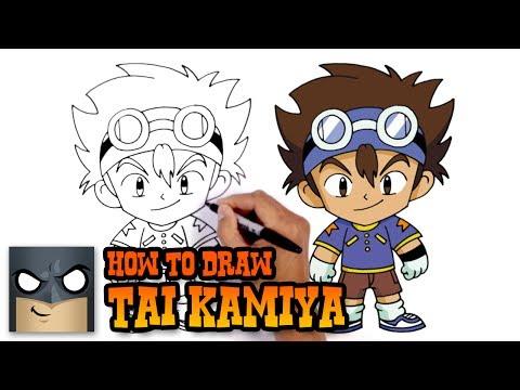 How to Draw Tai Kamiya | Digimon