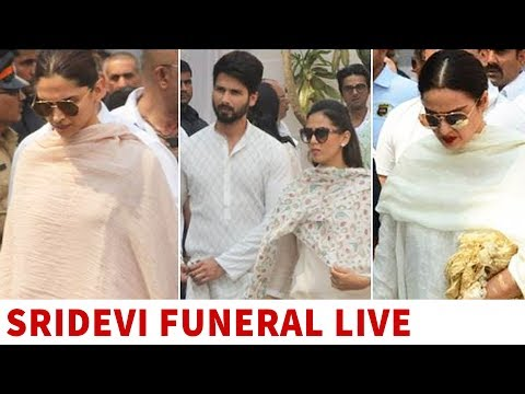 Sridevi funeral: Rekha, Deepika Padukone, Raveena Tandon arrive at Celebrations Sports Club