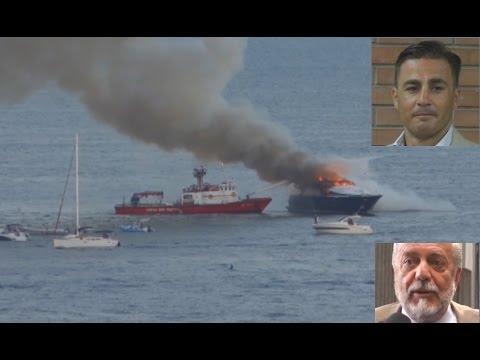 """Napoli - Incendio yacht De Laurentiis, Cannavaro """"anticipa"""" la notizia (21.09.15)"""