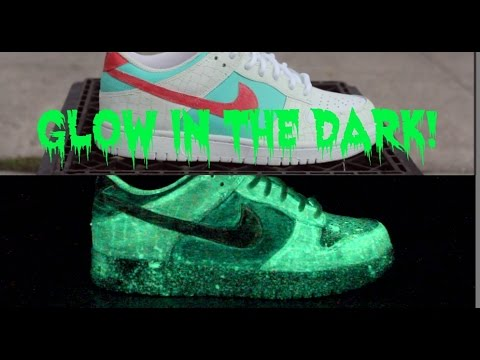 ddd6bf752af9 GLOW IN THE DARK CUSTOM SNEAKERS! - YouTube