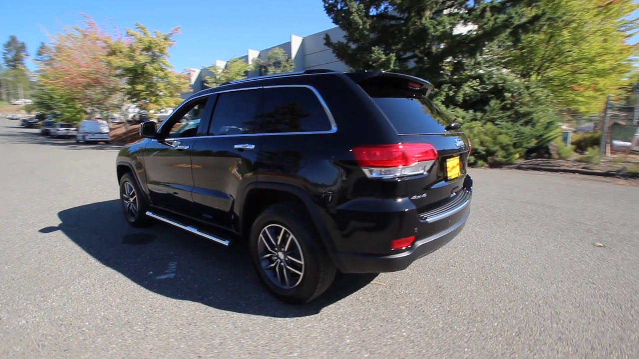 2018 Jeep Grand Cherokee Limited Diamond Black