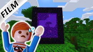 JULIAN STEIGT IN PORTAL! JULIAN SPIELT MINECRAFT! Playmobil Film Deutsch - Familie Vogel