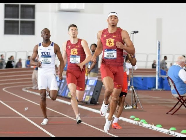 Michael Norman Sets NCAA and World Indoor 400m Records