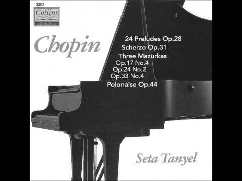 SETA TANYEL plays CHOPIN 24 Préludes Op.28 (1993)