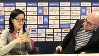 Tata Steel Chess 2015 - Press Conference - Yifan Hou round 11