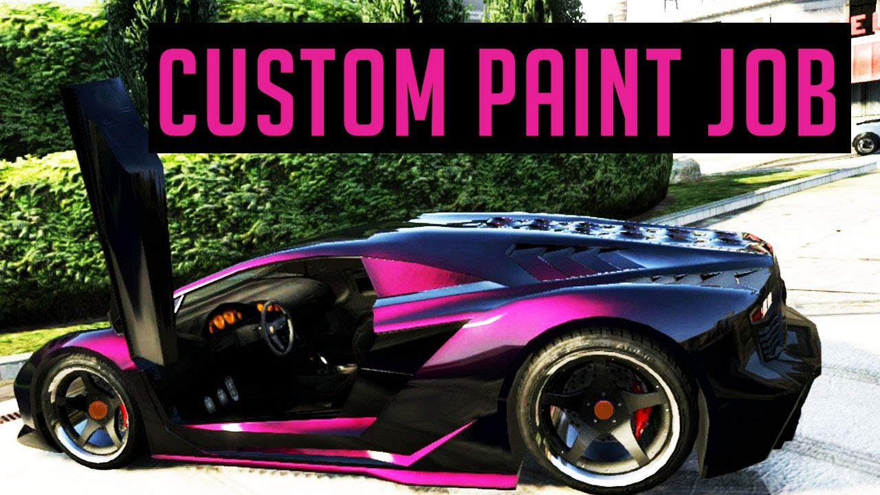 GTA 5 Custom Paint Job - Cool Paint Job? - YouTube