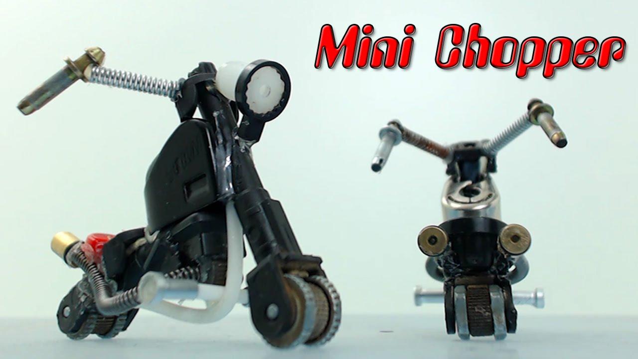 Minimoto Chopper con encendedores, cómo se hace - YouTube