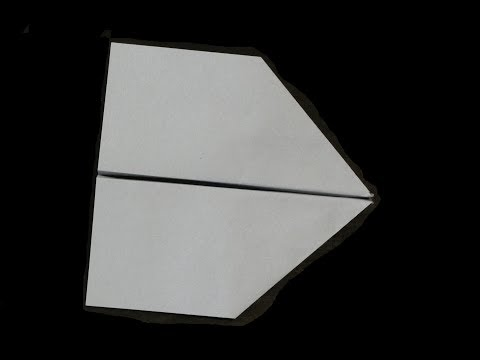 Sharp glider (How to make a paper airplane, one of the best paper airplanes)