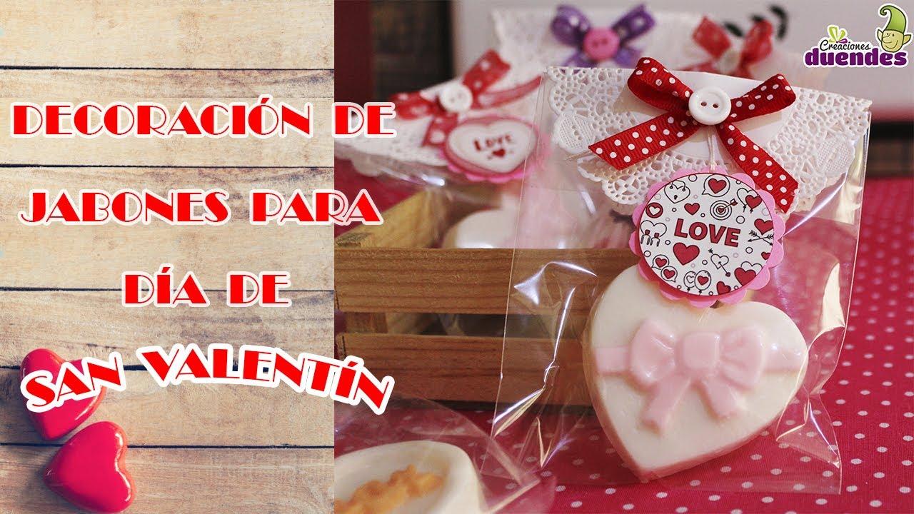 Decoración de jabones para día de San Valentín