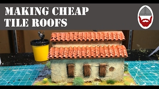 making Tile Roofs for Wargaming Terrain