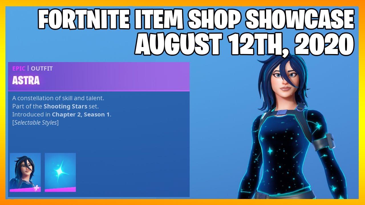 Fortnite Item Shop ASTRA IS BACK! [August 12th, 2020] (Fortnite Battle Royale)