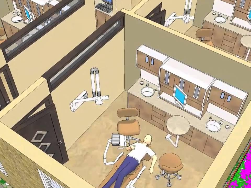 Dental Office 3d Walkthrough 3 Youtube