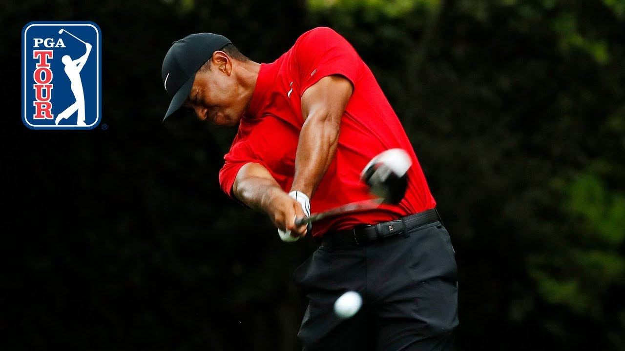 Tiger Woods' swing in slow motion (every angle)