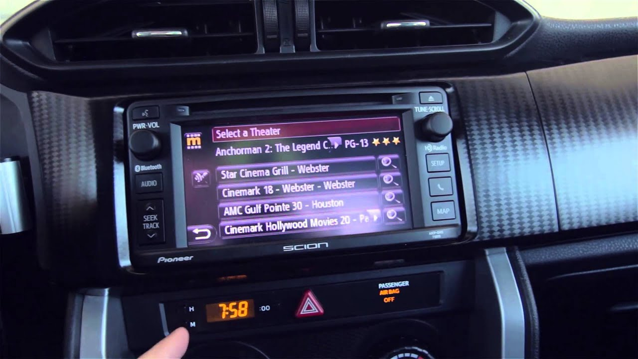 2014 Scion Frs Radio Navigation With Entune Youtube