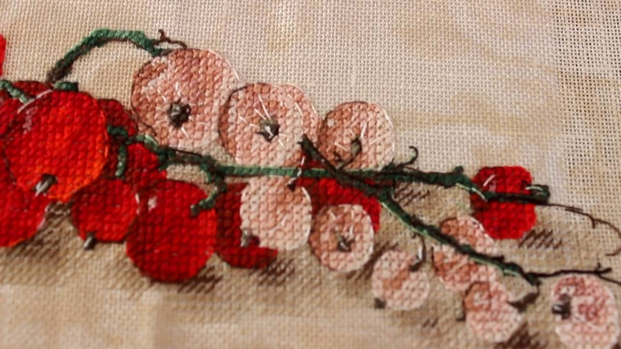 Схемы вышивки красная смородина