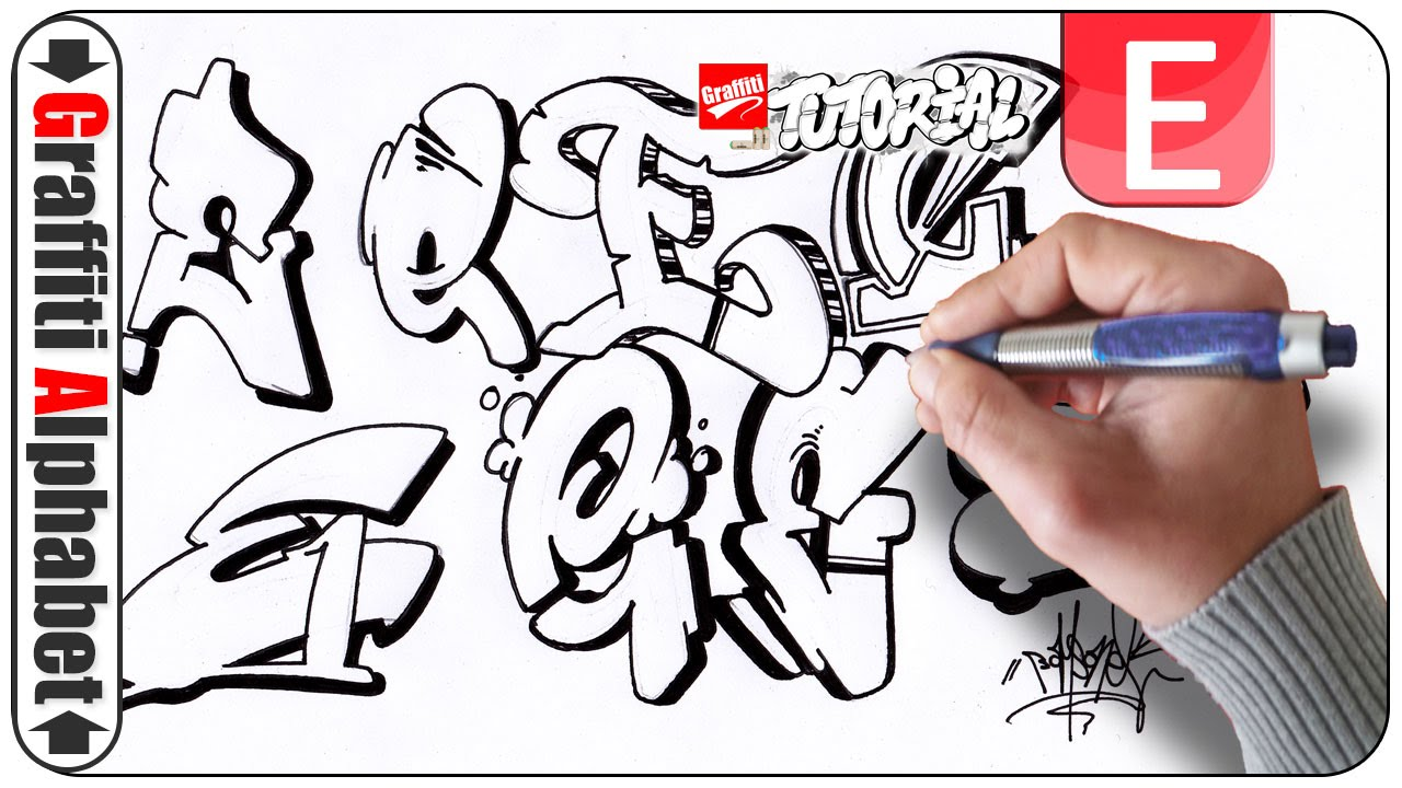Graffiti Alphabe...E Letter Images Love