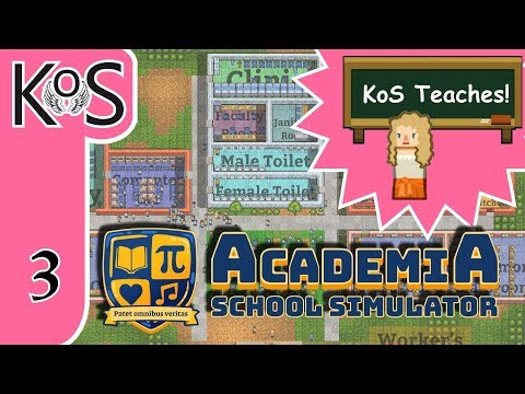 Academia: School Simulator Ep 3: CROWDS, SICKNESS, & THE LIBRARY - First Look - Let