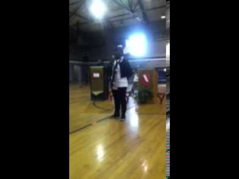 Keke Hare singing Hero at Hayneville Middle School