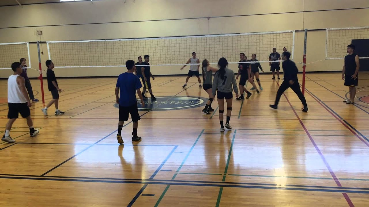 NCCCAF 2015 indoor volleyball tournament co-ed final - 1 - YouTube