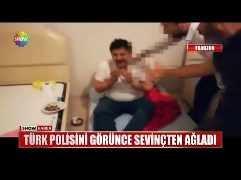 Türk polisini görünce sevinçten ağladı