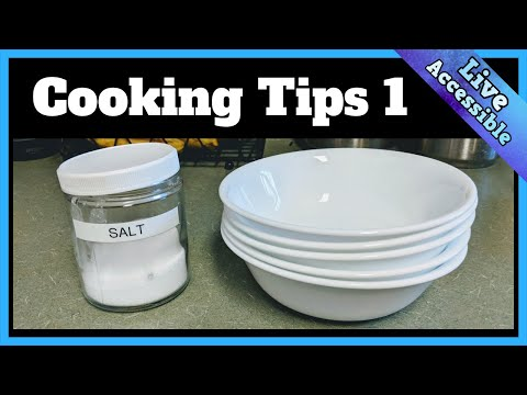 Cooking Tips 1 - For The Blind And Visually Impaired #LiveAccessible