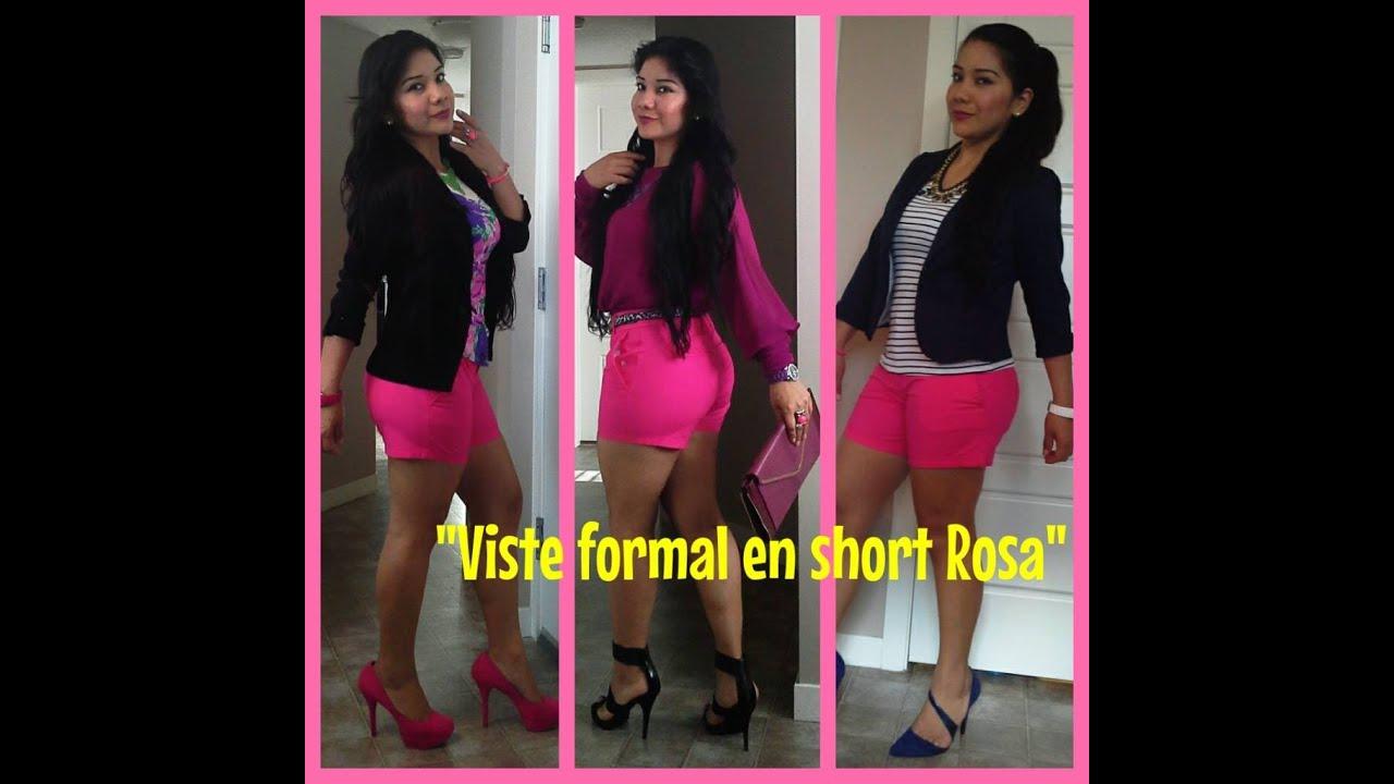Como vestir formal utilizando un short rosa youtube - Como vestir un armario empotrado ...