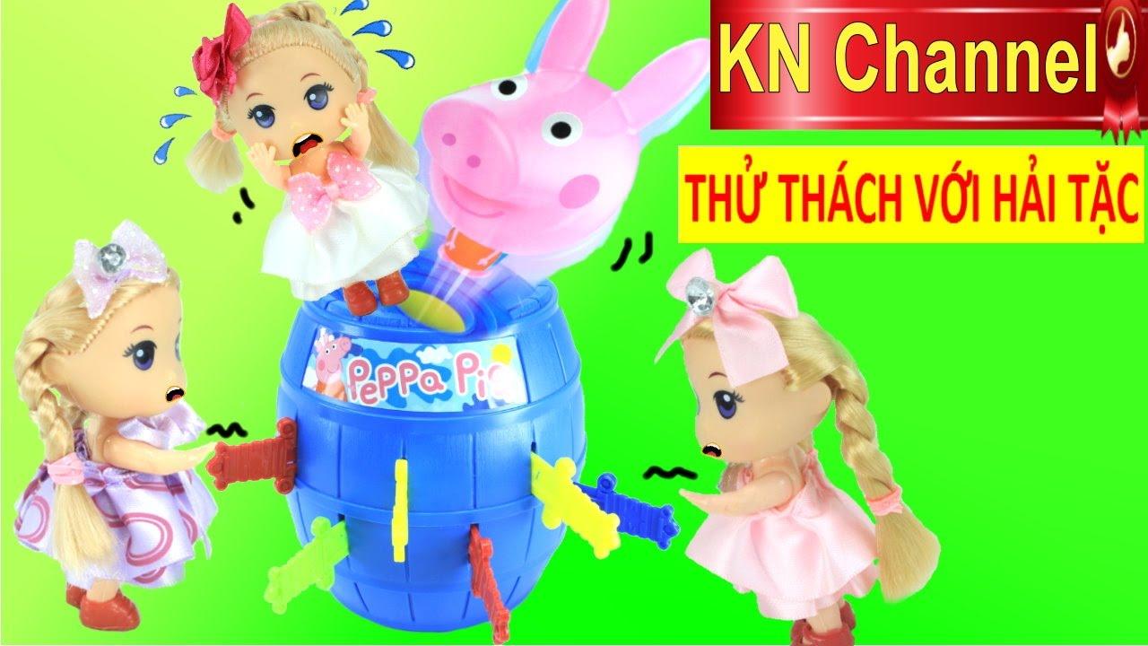 Đồ chơi trẻ em THÙNG RƯỢU VAN HEO PEPPA PIG | THỬ THÁCH VỚI HẢI TẶC
