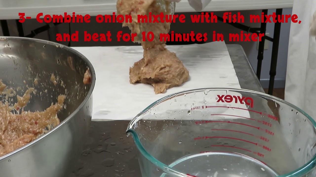 Homemade Gefilta Fish
