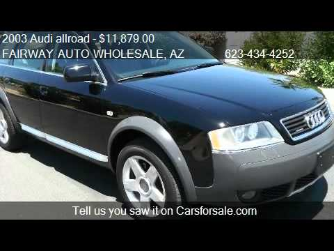 2003 audi allroad 2 7 t with tiptronic for sale in phoenix youtube. Black Bedroom Furniture Sets. Home Design Ideas