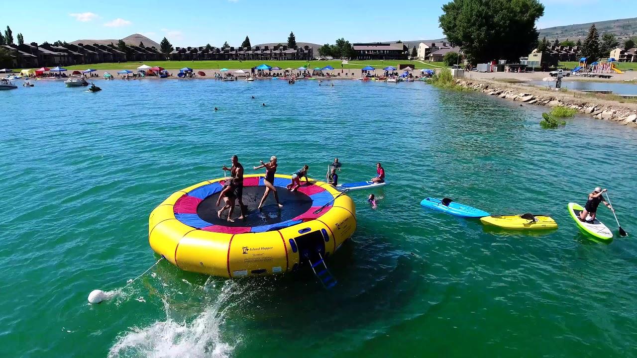 Water Trampoline At Ideal Beach Resort Bear Lake