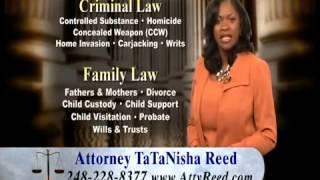Top Criminal Family Lawyer Detroit Southfield MI | TaTaNisha Reed at 248-228-8377