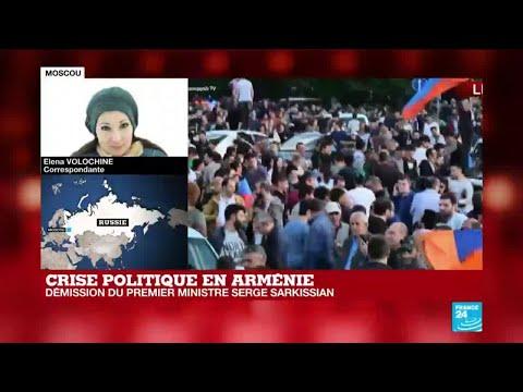 Crise politique en Arménie : démission du Premier ministre Serge Sarkissian
