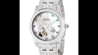 bulova 96r122 women s automatic diamond bva series 130 watch review video