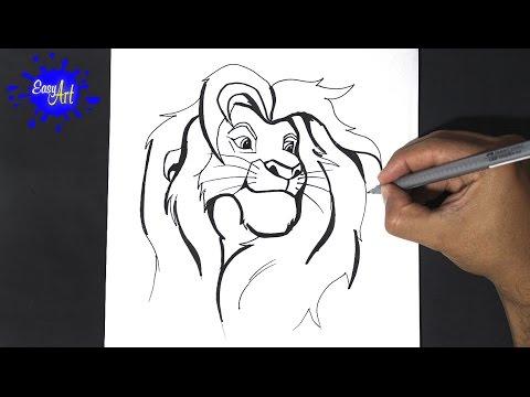 Como dibujar a simba 3 - como dibujar al rey leon - Draw simba lion ...