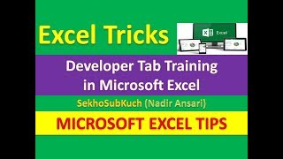 Developer Tab Training in Microsoft Excel : Excel Tips and Tricks [Urdu / Hindi]