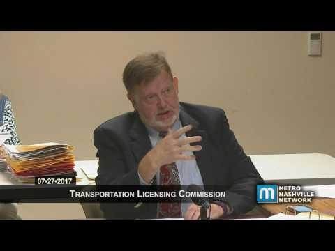 07/27/17 Transportation Licensing Commission Meeting