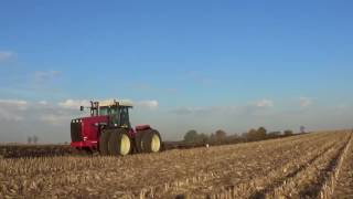 Fall Plowing with a Versatile 340 Tractor and Oliver 6 bottom plow