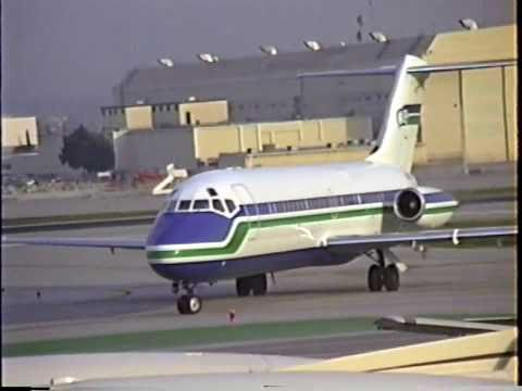 Seattle Seahawks Douglas DC-9-15 Departing BUR