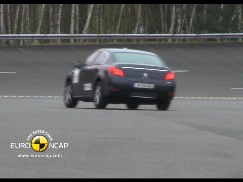 Peugeot 508 Electronic Stability Control (ESC) Euro NCAP Test