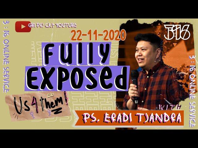 #US4THEM | Ps. Eradi Tjandra | 3:16 Youth Ministry English Service - 21 November 2020
