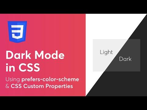Dark Mode Using Prefers-color-scheme & CSS Custom Properties - Web Development Tutorial