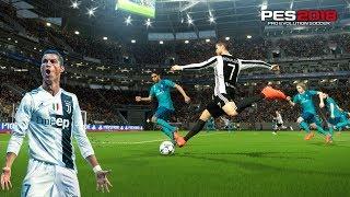 Ronaldo First Game for Juventus | PES2018 Gameplay Juventus vs Real Madrid