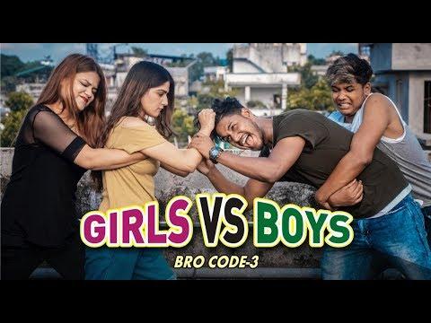 Girls Vs Boys || Bro Code Ep -3|| Dhoke Pe Dhoka || Sahil and Shan Brothers