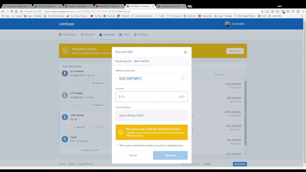 How To Transfer Funds To Coinbase Using Bank Wire And Bank Transfers ...
