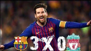 Barcelona 3x0 Liverpool Golaço de Messi , melhores momentos!!!