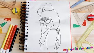 How to draw Lady Gaga - Easy step-by-step drawing lessons for kids