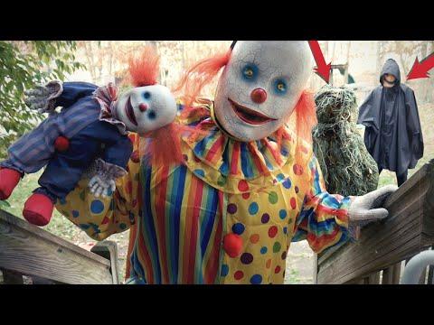 Scary Clown Vs The BoogeyMan Vs TreeMan - WeeeClown Around